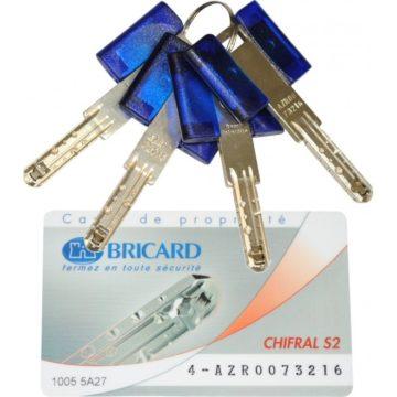 Bricard Chifral S2 clé et carte