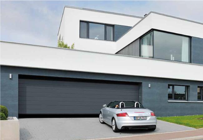 Porte de garage sectionnelle sac s curit - Porte de garage moderne ...