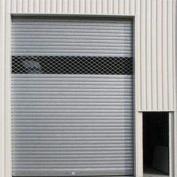 Rideau métallique grille